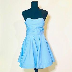 GINGER FIZZ strapless baby blue dress 12